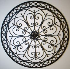 Round Wrought Iron Wall Decor Magnificent Iron Wall Medallion Black  Shopping  Pinterest  D Irons And Decorating Design