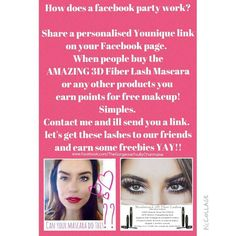 How to have a party Facebook Party, Fiber Lashes, Free Makeup, Younique, Parties, Let It Be, Stuff To Buy, Fiestas, Party