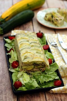 Terrine aux courgettes et thon - Amandine Cooking