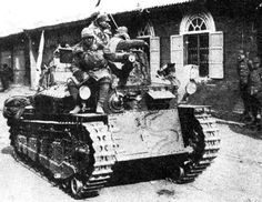 Japanese Type 89 I-Go medium tank, probably Manchuria, China, 1930s