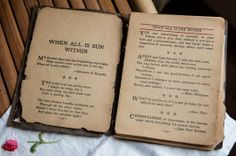 """This beautiful leather bound book was given to my great grandmother as a gift from my aunt.  My mother had it for years and passed it on to me.  The title of the book is """"When All is Sun Within."""""""