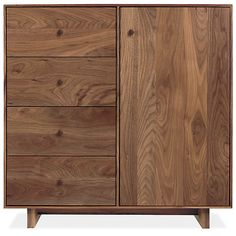 Room & Board - Hudson 30w 12d 30h Storage Cabinet with Wood Base