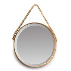 This gorgeous mirror oozes natural luxe. Bring a relaxed vibe to your living space with this gorgeous classic mirror style. Beaded Mirror, Online Shopping Stores, Soft Furnishings, Natural Wood, Home Decor, Interiors, Island, Space, Classic