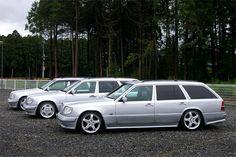 3 Silver W124 Wagons.