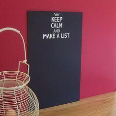 Keep calm and make a list :)