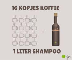 Recoffee, shampoo-conditioner-bodywash-hairolie gemaakt van de resten van koffie. O'Right; natuurlijke haarverzorging