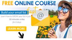 Free Email Marketing, Your Email, Passion Project, Learning Tools, Email List, Growing Your Business, Online Courses, Online Business, Connect