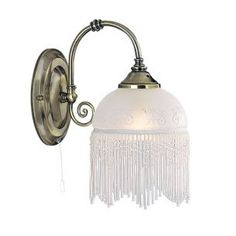 Klassische Wandleuchte Victoriana mit edlem Glaslampenschirm