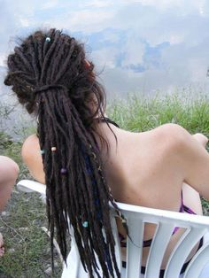 Love how they're decorated. #dreadlocks #dreads #hair