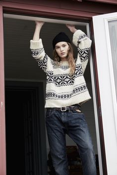 Polo Holiday Geometric Crewneck Sweater