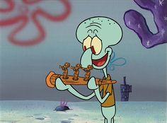 SpongeBob's Christmas gift to Squidward Old Christmas Cartoons, Spongebob Christmas, Merry Christmas Charlie Brown, Spongebob Friends, Squidward Tentacles, Funny Cartoon Memes, Snapchat Stickers, Spongebob Squarepants, Christmas Wallpaper