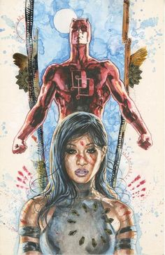 Matthew Murdock AKA Daredevil and Maya Lopez AKA Echo (cover to Daredevil: Parts of a Hole TPB)