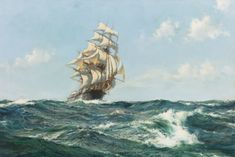 Montague Dawson R.S.M.A., F.R.S.A. 1895-1973 BRITISH THE ABERDEEN CLIPPER, THE STAR OF PEACE signed Montague Dawson (lower left) oil on canvas 20 by 30 in. 50.8 by 76.2 cm