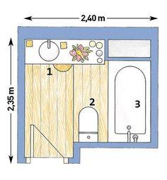 Plano y distribución del baño