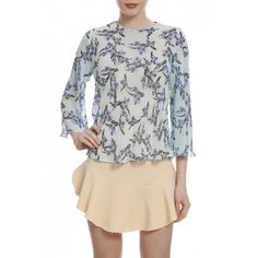 Blusa Blue Flowers. #fastfashion #streetstyle #becool #blusa