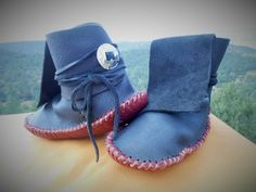Moccasins Ankle Wrap Custom Made to Order by FaeMoonWolfDesigns