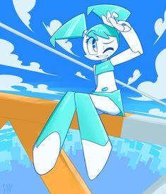 Wind blows by on DeviantArt Robot Images, Star Wars Bb8, Character Art, Character Design, Teenage Robot, Blue Haired Girl, Humanoid Robot, Comic Art Girls, Robot Girl
