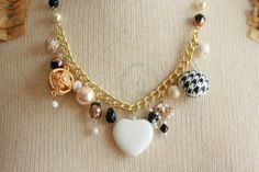 downtown cafe ladies charm necklace @sweetshoppejewelrystore.com #handmadevintagejewelry