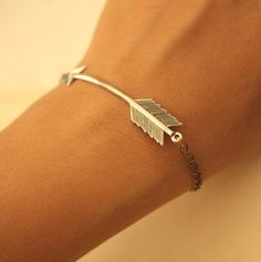 Overpriced, but I realllly like this. arrow bracelet etsy silver small