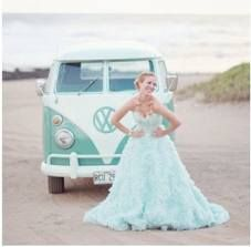 Mint dress and Limo