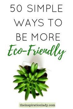 50 Simple Ways To Be More Eco-Friendly