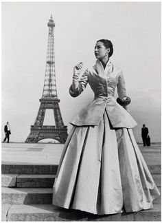 Vintage Vogue - 1954 -Vintage Dior. Can it get any better than this? Dior...Paris ...dream.