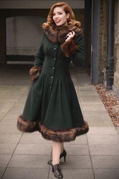 30s Pearl Coat Dark Green