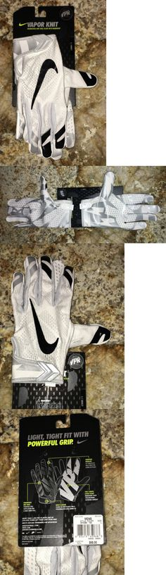 Gloves 159114: Nike Vapor Knit Football Gloves Size M Black White -> BUY IT  NOW ONLY: $34.99 on eBay! | Gloves 159114 | Pinterest