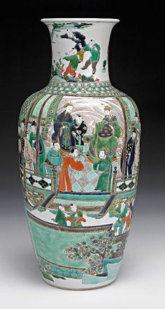 A 'Famille-Verte' vase, of… - Important Asian, Australian & European Decorative Arts & Furniture - Day 1 - Sotheby's Australia - Antiques Reporter