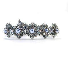 Himalaya Bracelet Denim Blue * supplies only beading kit - Liisa Turunen Designs