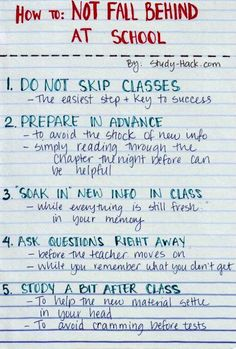 How to not fall behind at school college hacks, college study tips, college school High School Hacks, Life Hacks For School, School Study Tips, Middle School Hacks, College Study Tips, School Essay, Back To School Tips, School Ideas, Final Exam Study Tips