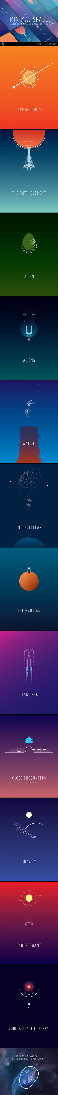 Minimal Space - minimalist posters for SF movies