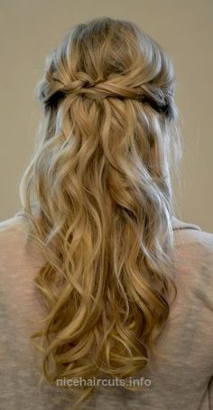 Half Updo Prom Hairstyles 2015 for Long Hair Simple braided prom half updo hairstyle for long hair http://www.nicehaircuts.info/2017/06/09/half-updo-prom-hairstyles-2015-for-long-hair/