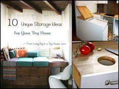 10 Unique Storage Ideas for Your Tiny House. Living Small. tiny home. Simplicity