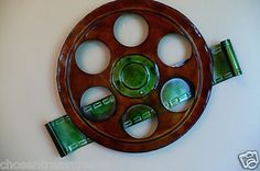 METAL MOVIE THEATER WALL ART HOME THEATRE MOVIE FILM REEL HOLLYWOOD round new