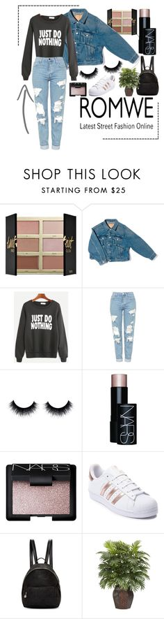 """jdn2"" by ali-tomlinson21 on Polyvore featuring tarte, Balenciaga, Topshop, NARS Cosmetics, adidas, STELLA McCARTNEY and Nearly Natural"