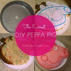 DIY Peppa Pig Cake