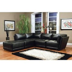 Bonded Leather Modular Sectional Sofa - Free Shipping Today - Overstock.com - 21185293 - Mobile