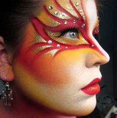 and Scary Makeup Looks for This Halloween Makeup Designs makeup designs for women incoming search terms creative makeup designs Karas costumeMakeup Designs makeup des. Cool Halloween Makeup, Scary Halloween Costumes, Scary Makeup, Makeup Art, Eye Makeup, Makeup Ideas, Bird Makeup, Spooky Halloween, Dragon Makeup