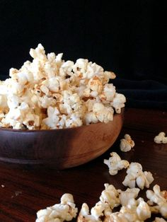 Pizza Popcorn - buttery, salted popcorn, coated with Parmesan and seasoned with Italian seasonings. ~ Chocolate with Grace