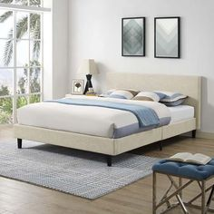 Full Platform Bed, Queen Platform Bed, Platform Bed Frame, Upholstered Platform Bed Queen, Bedroom Furniture Stores, Bed Furniture, Bedroom Decor, Furniture Outlet, Online Furniture