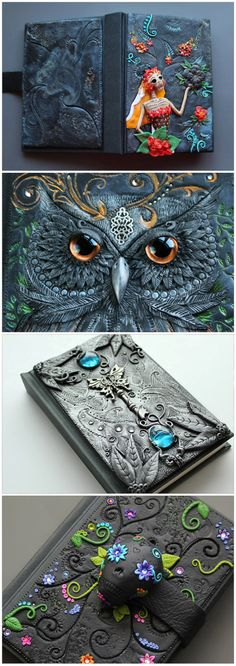 DISPLAY/ CUSTOM order owl Journal secret by MyMandarinDucky