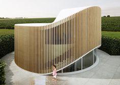 Penda's doughnut-shaped House O is based on a tree stump