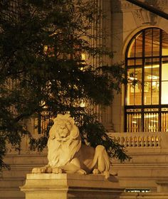 Lion Statue In New York City - Public Library