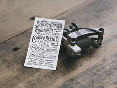#houseofbranding | Tattoos Shop Business Card by Two Arms Inc.