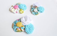 How to Make Lace Rosettes | made these little clips with a rosettes, yo-yos, buttons, and little ...