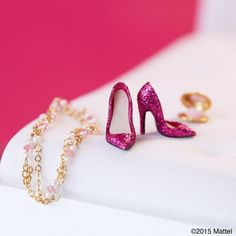 Add a little sparkle to your #shoesday!  #barbie #barbiestyle