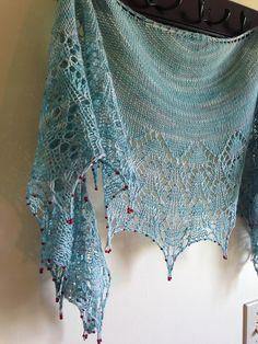 Ravelry: winniemasonjars' Wedding shawl in Manos Fino