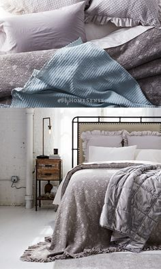 Soften up an industrial bedroom with cozy #MyHomeSense bedding. Tip: sateen sheets give your bed a softer feel and luxurious lustre, perfect for the seasonal transition. Find endless possibilities for your beautiful bedroom at HomeSense today!