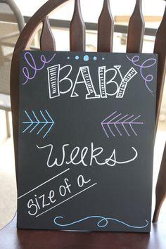 Pregnancy Chalkboard, Weekly Pregnancy Chalkboard, Weekly Pregnancy, Reusable